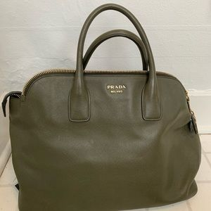 Prada Militare Saffiano Cuir Top Handle